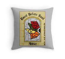 Kneel Before Saad Throw Pillow