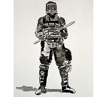 Riot Cop Photographic Print