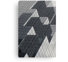 Mirrors of a glass building Canvas Print