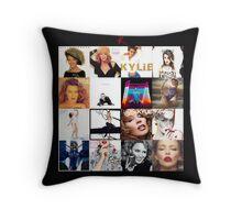 Kylie - The Albums throw pillow / tote bag Throw Pillow