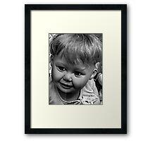 creepy doll Framed Print
