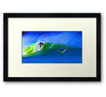 80's Surf Style - The Drop Framed Print
