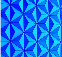 Blue Triangle Pattern by madisoncenter