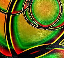 Multicolored Modern Abstract Design by DFLC Prints