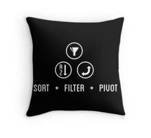 SORT FILTER PIVOT Throw Pillow