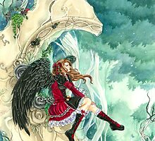 Daydreaming gothic dark angel fairy tale by Meredith Dillman by meredithdillman