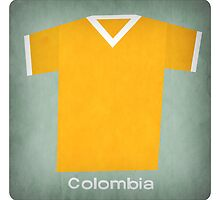 Retro Football Jersey Colombia by Daviz Industries
