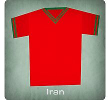 Retro Football Jersey Iran by Daviz Industries