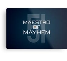 Maestro of Mayhem Metal Print