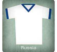 Retro Football Jersey Russia by Daviz Industries