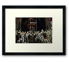 with Mona's aura fazing out a young girl's portrait came into view... Framed Print