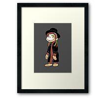 Curious Boy George Framed Print