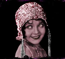 Flapper in Sequined Cap by dianegaddis