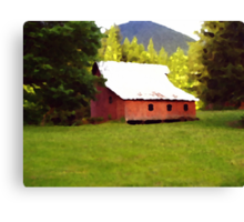 Big Red Barn 3 Canvas Print