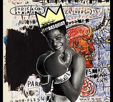 Basquiat (black border) by adam mazzarella
