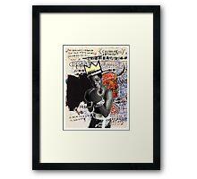 basquiat (white border) Framed Print