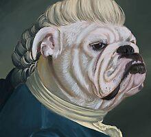 Pup Portrait with Lace Jabot by saiphandsound