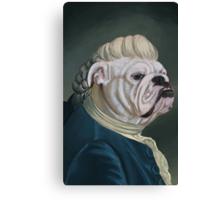Pup Portrait with Lace Jabot Canvas Print