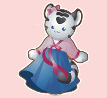 Kawaii White Tiger in Hanbok by kimchikawaii