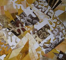Abstract Collage 1 - alternate tote/pillow by Heather Holland by Heatherian