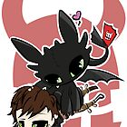 Toothless and Hiccup by JotunRunt
