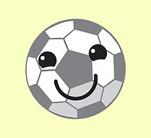 Super cute Kawaiis soccer football ball by jazzydevil
