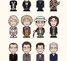 The Twelve Doctors (card) by redscharlach
