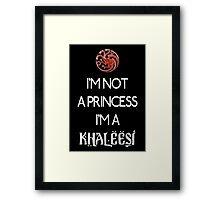 Khaleesi (dark) Framed Print