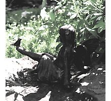 A Fairy In My Garden Photographic Print