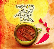 What my #Coffee says to me -  September 29, 2013 Pillow by catsinthebag