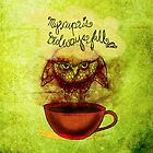What my #Coffee says to me - January 30, 2014 Pillow by catsinthebag