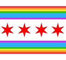 Chicago Rainbow Pride Flag by Dean Dunakin