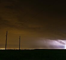 Lightning over Denver by Josh Dayton