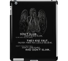 Doctor Who-Don't Blink Speech  iPad Case/Skin