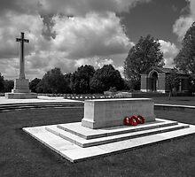 Hooge Cemetery in mono  by Rob Hawkins