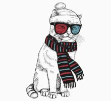 3-D Hipster Kitty by FanHam