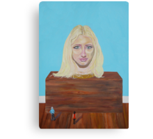 "Museum of strange things No1 ""Study of a blonde girl"" Canvas Print"