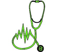 Stethoscope listening off pulse heart rate by Style-O-Mat