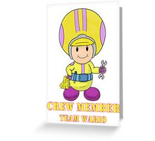 Team Wario Crewmember Greeting Card