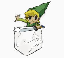 Wind Waker Link in a Pocket White by HeartlessArts