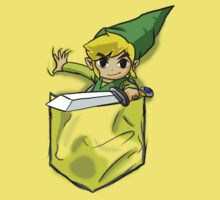 Wind Waker Link in a Pocket yello by HeartlessArts
