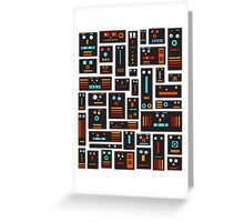 Crazy Robot Friends Greeting Card