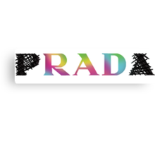 p RAD a   rainbow Canvas Print