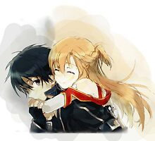 Kirito and Asuna by BronyJesus