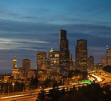 Seattle Skyline by Mark Eden