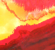 Wildfire original painting Sticker