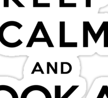 Keep calm and look athe flowers Sticker