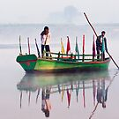 Yamuna River boatmen. by DaveBassett