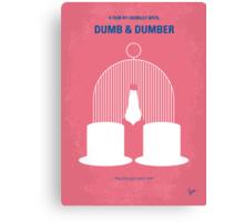 No241 My Dumb & Dumber minimal movie poster Canvas Print