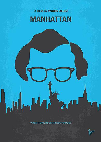 No146 My Manhattan minimal movie poster by Chungkong